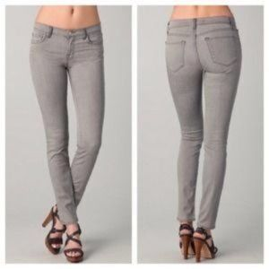 J BRAND | Pencil Leg Low Rise Skinny Jeans Gray 24